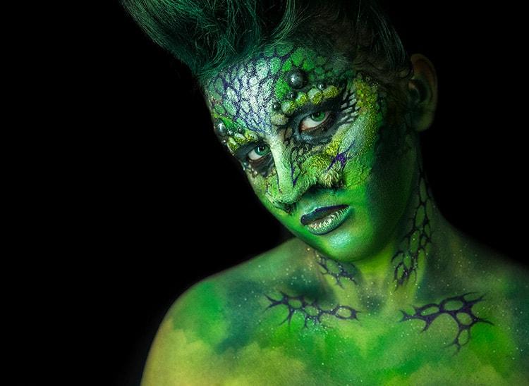 El látex para maquillaje y caracterización de efectos especiales