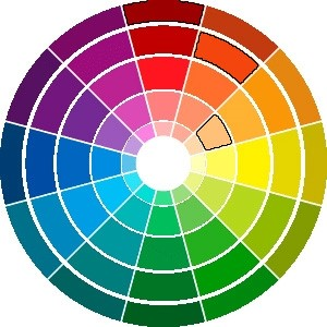 armonía de color rueda de color