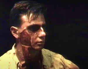 maquillaje de la matanza caníbal de los garrulos lisérgicos