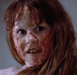Linda Blair en el exorcista