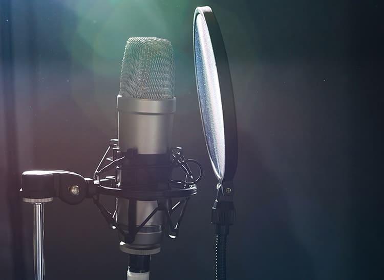 Características de un micrófono de estudio