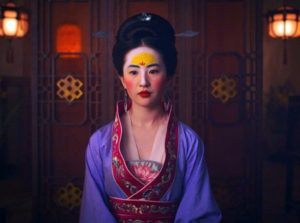 maquillaje y caracterización de mulan