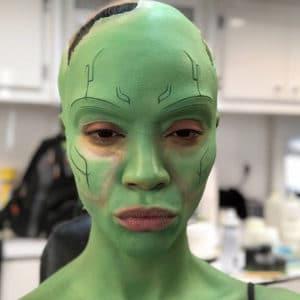 maquillaje gamora en redes sociales