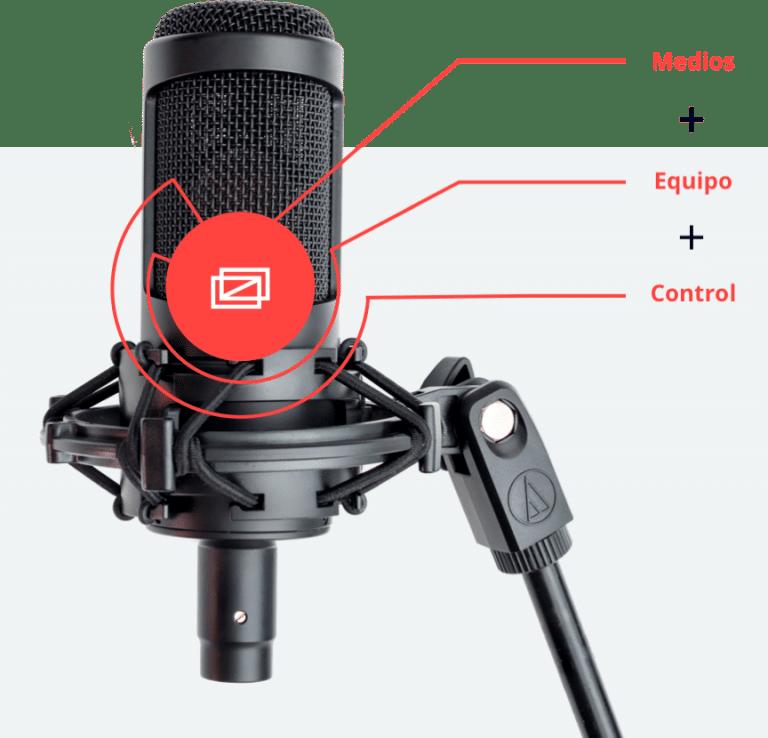 Micrófono locución